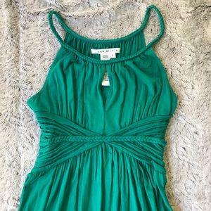 Max Studio braided strap green maxi dress